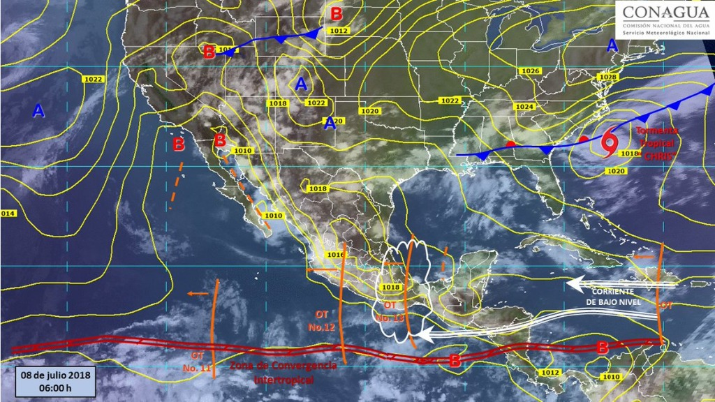 Lluvias por onda tropical 13 en centro y occidente del país