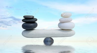 Zen concept background-The balance between the black and white zen stones