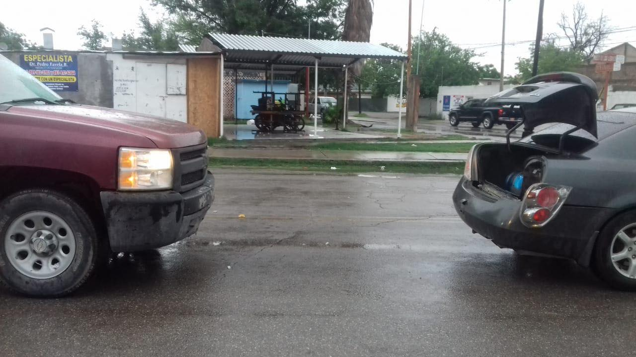 Lluvia de accidentes en Sabinas